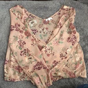 Tops - Wrapped Front Skylar & Jade Floral Top - Size S